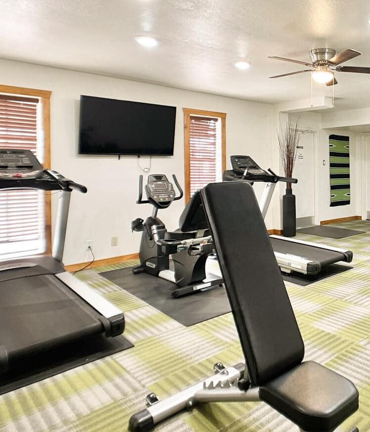 Fitness room in Mesa RV resort